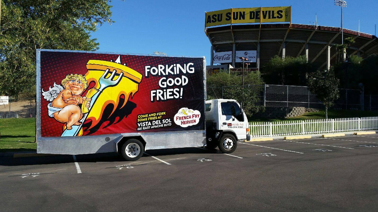 billboard truck phoenix tempe arizona