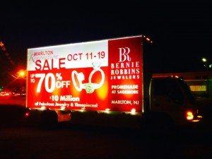 Mobile billboard truck in Marlton